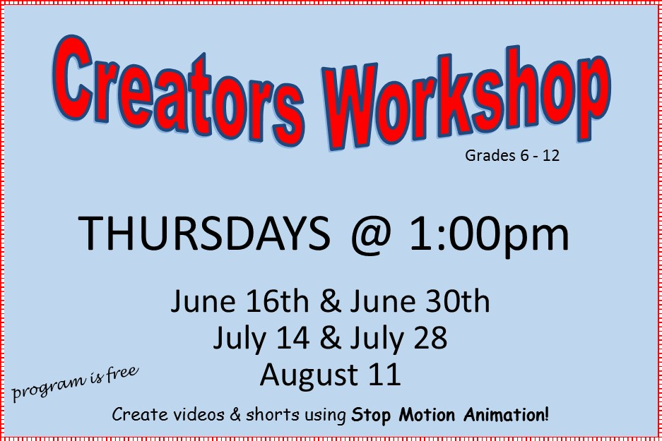 2016 - Creators Workshop