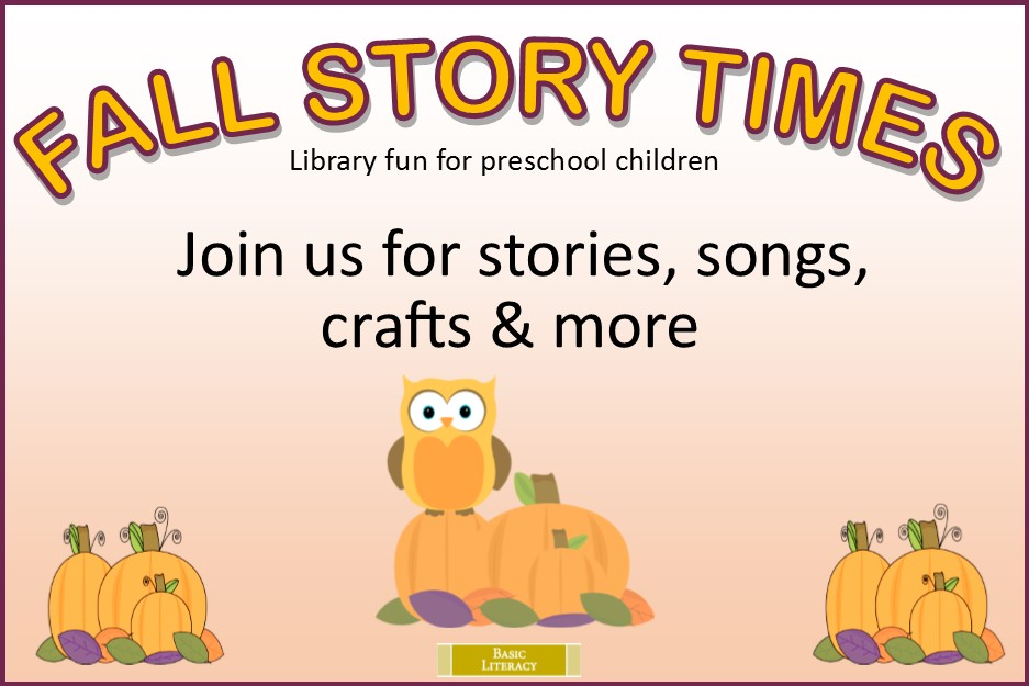 Fall Story Time 2018