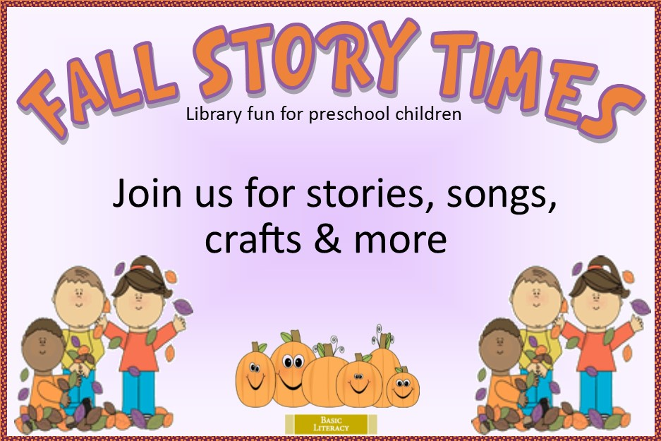 Fall Story Times 2019