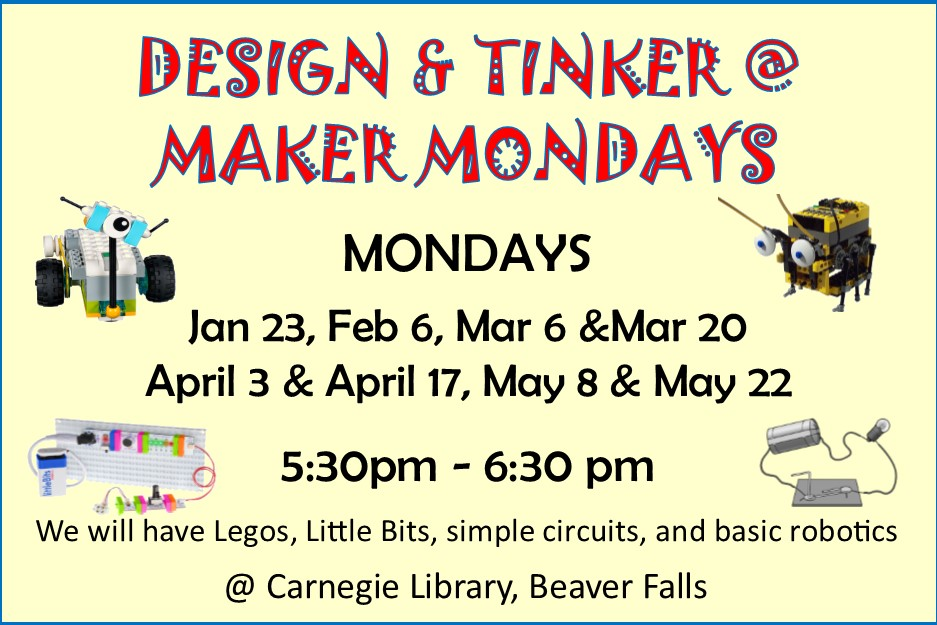 2017 - Design and Tinker Maker Monday
